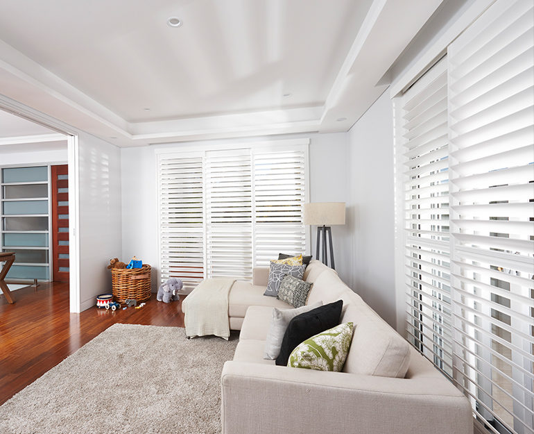 Poly satin shutters